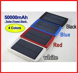 Wholesale Solar Panel Battery Mah - Portable 50000mah Solar Charger Battery 50000 mAh power bank Backup Dual Charging Ports Emergency External Battery Charger Solar Panel