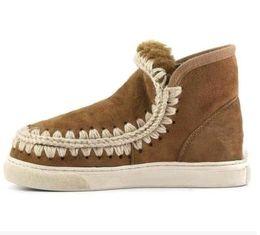 Wholesale Super Platform Boots - 2017 winter Eskimo Snow Ankel Boots Fur Material Super Warm 2.5cm Platform Rubber Sole Shoes For Women