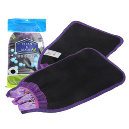 Wholesale Magic Laces - Korean Magic Peeling Glove Scrubbers with Color Lace Exfoliating Tan Removal Bath Mitts Double Layers Clean & Beauty Bath Wash Towel SK474