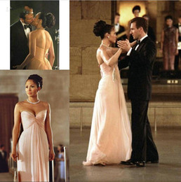 Wholesale Celebrity Movies - Simple Sweetheart Evening Dress Prom Gown Celebrity Bridesmaid Dress in the movie 'Maid In Manhattan' Made of Chiffon Floor Length