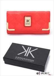 Wholesale Leather Man Purse Bag - Wholesale-2015 kk kardashian wallet purses kim kardashian kk wallet designer wallet brand women clutch leather purse kim kardashian bag