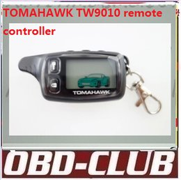 Wholesale Demo Case - 2016 Newest Original Two way car alarm system Tomahawk TW9010 remote controller keychain case cover Free shipping