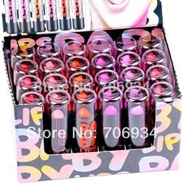 Wholesale 24pcs Lip Balm - Lipsticks Quality Branded Lip Stain The Balm Makeup 24PCS 6 Color Red Pink Colored Lipstick Lip Stick H119 2.3g