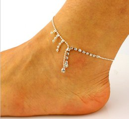 Wholesale Cheap China Jewellery - Wholesale tassel chains anklets bride jewelry!Set auger anklets,ladies fashion cheap jewellery,bell tails,china foot ornaments,onsale.XQ