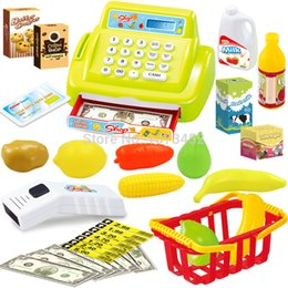 Wholesale New Baby Educational Toy Pretend Play Register Scanner Supermarket cash register Children Lovely Babies Riddle Toys