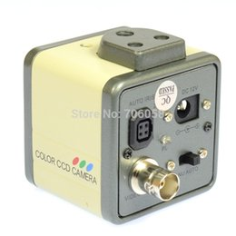 "Wholesale Ccd Pcb Camera - Wholesale-800TVL 1 3"" CCD Digital Industry Microscope Camera Set CS & C-Mount Lens Support BNC Color Video Output F SMD BGA PCB"