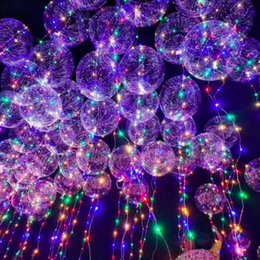 2019 metro di lattice Luminoso Led Trasparente 3 Metri Palloncino Lampeggiante Palloncino in lattice Decorazioni per feste di matrimonio Forniture di festa 2019 Decorazioni natalizie di Capodanno metro di lattice economici
