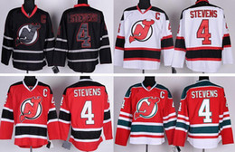 Wholesale Scott Red - 2016 New, #4 Scott Stevens Jersey Cheap New Jersey Devils Ice Hockey Jerseys Black Red White Color Wholesale Stitched Logos