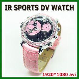 Wholesale Spy Watch Full Hd 16gb - Full HD 1080P woman watch spy camera 8GB 16GB Waterproof with IR night vision watch mini camcorder