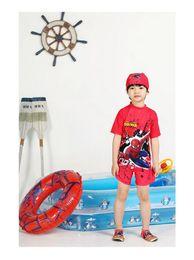 Wholesale Boy Shorts Swim Suits - Wholesale-2016 New arrival short-sleeve one piece boys surf clothing diving swim suit children swimwear kids swimsuit BH1792