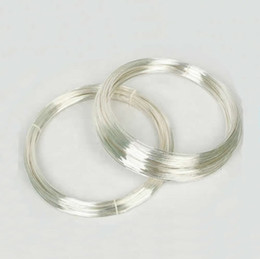 Wholesale Wire 24 Gauge - Beadsnice 24 gauge sterling silver wire half hard wire for jewelry design bulk wire wholesale ID 26882