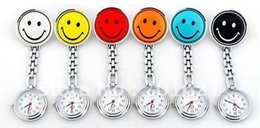 Wholesale Cheap Nurses Watch - Wholesale - cheap lovely personality smile nurse watch nurse brooch quartz watch matal pocketwatches