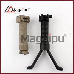 Wholesale Airsoft Springs - Magaipu airsoft gun accessories Tactical Vertical Fore-Grip with Retractable Spring Loaded Bipod fits 20mm rail for hunting