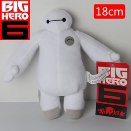 Wholesale White Robot Toy - New Arrived Big Hero 6 Super Corps Baymax Robot 18cm White Fat Plush Doll Toys