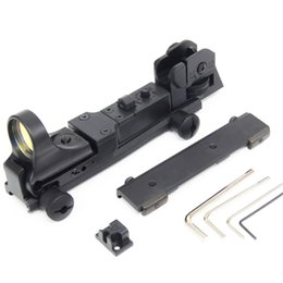 Wholesale Ar Picatinny - Fast shipping Tactical C-MORE 8 MOA Red Dot Reflex Sight with AR Rear Iron Sight Integral Picatinny Mount Black