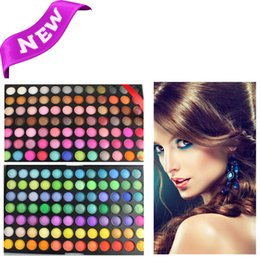Wholesale 168 Color Makeup - 168 Color Eye shadow earth color shine pearl shimmer eyeshadow for women makeup eye care covering powder free shipping