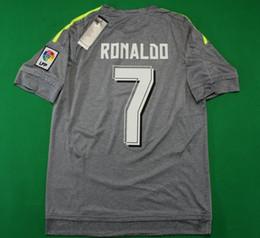 Wholesale Soccer Tracksuit Free Shipping - #7 RONALDO 2015 2016 New Madrid away grey football jerseys men's fans version brand new soccer kits adult's outdoor tracksuits free shipping