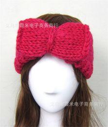 High Quality Womens Knitting Wool Headbands Lady Winter Warm Crochet Head  Wrap Beanies hair accessories headwear Turban Bandanas Hats WHA41 c22c480dea4e