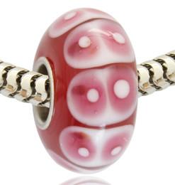 2019 branelli acrilici di velluto all'ingrosso Vendita al dettaglio all'ingrosso nuovo arrivo tubo placcato argento rosa Evil Eye vetro murano perle di vetro di Murano Charm per bracciale Pandora