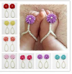 grossista bangles de bebê Desconto Sapatos de bebê por atacado flor de pérola sapatos de bebê Bebê Pulseira frete grátis 30 pares