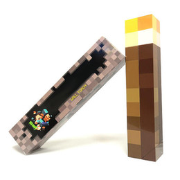 Wholesale Hold Ups - Minecraft Lights Up Torch Led Lamp Diamond Square Light Night Light Hand Held Or Wall Mount Light -Up Toys For Kids Gift