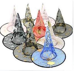 50pcs Halloween Costumes Halloween Party Props Cool Witches Wizard Cappelli Vari colori Vendita calda 50pcs / lot spedizione gratuita supplier coolest costumes da i costumi più cool fornitori