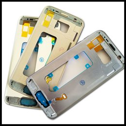 Wholesale Galaxy Power Button - Original New Middle Frame for Samsung Galaxy S7 G930F S7 Edge G935F Bezel Metal Frame Middle Housing With Power Volume Side Button