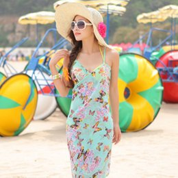 Wholesale Bikini For Wholesale Design - Swimwear For Women Mini Bikini Beach Cover Up Skirt Summer Sun Protection Shawl Multi 20 Designs Flowers Butterfly Free Shipping