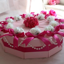 Wholesale Triangle Sweet Box - 100Pcs Lot Big Size Cake Candy Boxes Sweet Crowns Round Wedding Favor Holders Gift Box 2015 Best Selling
