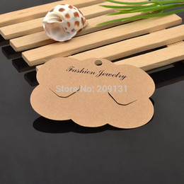 Wholesale Hair Accessories Display Cards - Wholesale-100PCS DIY Jewelry HairClip Brown Paper Card Jewelry foldable Accessories Hair Clip Parts Card Jewelry hair clip card display