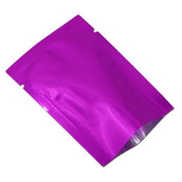 Wholesale vacuum package sealer - 10x15cm Purple Aluminum Foil Mylar Bag Vacuum Bag Sealer Food Storage Package Open Top Heat Seal Packing Pouch For Coffee Sugar