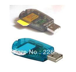 clone di sim card Sconti Vendita all'ingrosso-all'ingrosso USB Sim Card Reader Writer Copia Clone Backup GSM CDMA + spedizione gratuita