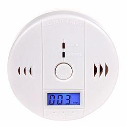 Argentina Envío de DHL pantalla LCD Detector de monóxido de carbono y monóxido de carbono Alarma Detector de CO y sensor de alarma de CO Color blanco Suministro
