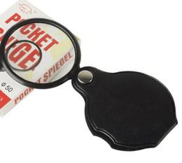 Lentille pliable en Ligne-Portable Mini Noir 50mm 5x Poignée Lecture Magnifier Loupe Lentille Verre Pliable Bijoux Boucle Bijoux Loupes Cadeau De Noël