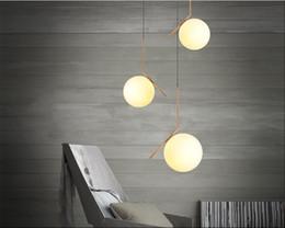 Wholesale Glass Ball Pendant Light Fixture - LED Glass chandeliers single galss ball hanging lighting globe pendant lights restautant bedroom livingroom pendant lights fixture AC85-265V