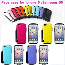 Wholesale Note Case Face - 1piece iface case with card slots for iphone 6 6 plus iphone 4 5 5s Samsung galaxy S6 S5 S4 S3 note 3 note 4 i face case Free Shipping
