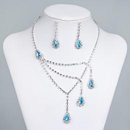 Лучшие продажи уникальные свадебные подружки невесты горный хрусталь ожерелье серьги комплект ювелирных изделий выпускного вечера в наличии горячая распродажа 15015a от