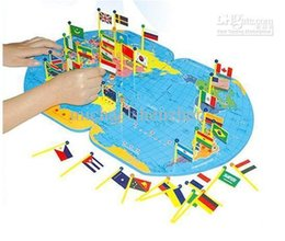 Wholesale Puzzles Map - Wholesale-Children's wooden toy ,Puzzle Map,Educational puzzle,Large three-dimensional National Flag toys