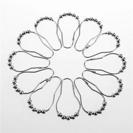 Moderne modevorhänge online-2015 heißer Art- und Weiseheisser Poliersatin Nickel 5 Rollerball-Duschvorhang schellt Vorhang-Haken freies Verschiffen