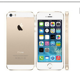 Wholesale Wholesale Ips - Hot 100% Original Refurbished Factory Unlocked apple iphone 5s phone 16GB32GB 64GB ROM IOS White Black GPS GPRS A7 IPS LTE