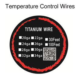 Wholesale Heating Package - Heating Wires Titanium Wire Prebuilt Coils For E Cigarettes 24AWG 26AWG With Individul Package 10m(30 feet) VS Clapton KanthanlA1