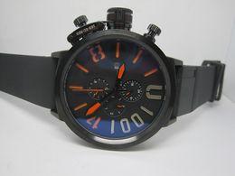 Relojes deportivos de gran tamaño online-Relojes deportivos de marca de lujo de los hombres de la venta superior para la correa de goma del movimiento automático del hombre tamaño grande 50m m U01