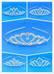 Wholesale Princess Tiara Party - 5 Different Style Girls Kids Crystal Princess Party Tiara Crown Wedding Hair Head Band Free Shipping