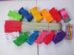 Wholesale Ribbon Tools - 2015 Rhythmic Gymnastics Ribbon Pilates 600 Pcs Hot Baton Twirling Streamer Ribbon with Wand Rhythmic Gymnastics Pageants Twirl