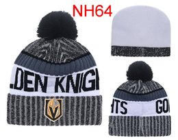 Wholesale Beanies Knitted Hats For Men - 2017 Newest Ice Hockey Cap Nashville Predators Winter Beanie Hats For Men Knitted Vegas Golden Knights Beanies Warm Caps Drop Shipping