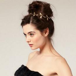 2019 accessori dei capelli all'ingrosso giapponese New Leaf fascia testa catena lascia capelli elastici dorati fascia donna signora