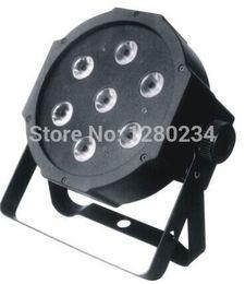 Wholesale Led 7pcs Rgbw - Wholesale-cheap disco light 7pcs*10w 4 in 1 RGBW led flat par can light for dj lights
