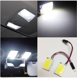 Wholesale Dome Map Interior Light - 50pcs HID White 18-COB LED Panel Light For Interior Map Dome Door Trunk Light XFCQ wholesale