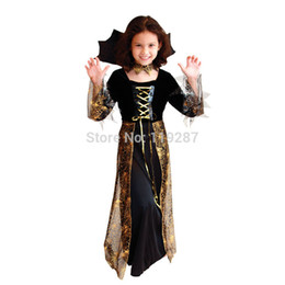 Wholesale Beautiful Princess Costumes - Shanghai Story New Beautiful Spider Girl Children Cosplay Costume Hallowean Party witch Costumes for Kids Cute Dresses