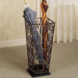 Étagère en fer support de stockage baril de pluie accueil hôtel cylindre dépliant porte-parapluie porte-parapluie noir blanc bronze C général ? partir de fabricateur